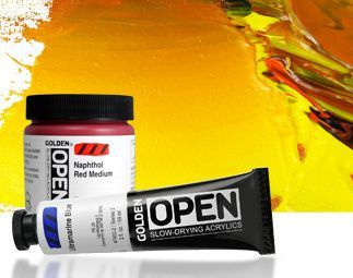 Golden Open Slow-drying Acrylics 59ml. Individual colours from
