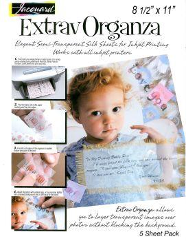 Jacquard Extravorganza Inkjet Organza - Pack of 5 Sheets