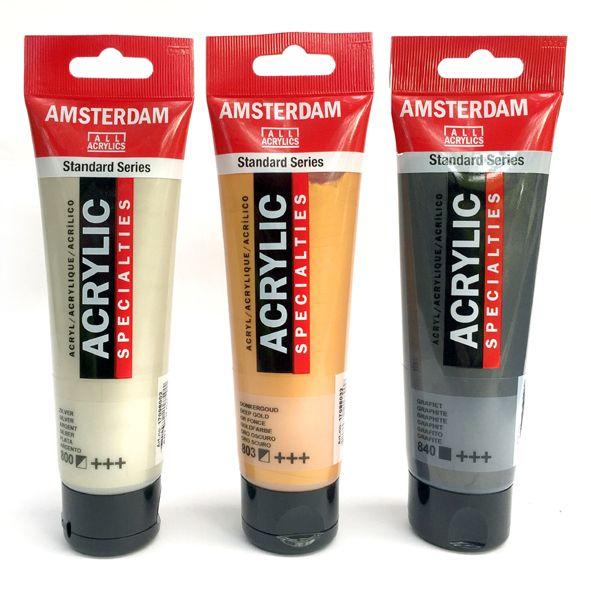 <!--010.1-->AMSTERDAM Standard Acrylics - Metallics 120ml tubes