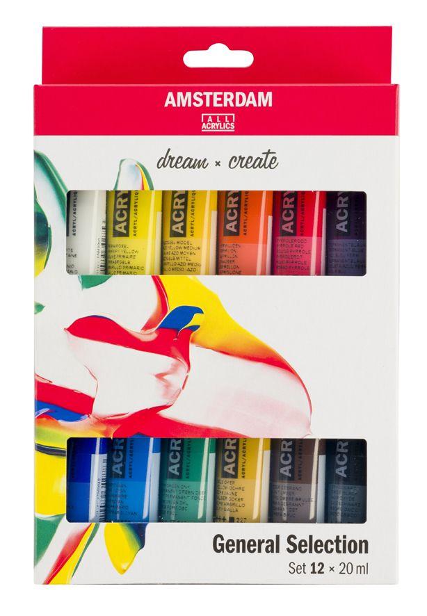 <!--014-->Talens ALL ACRYLICS 12x20ml Standard Series Set Amsterdam