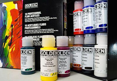 XMAS SPECIIAL!! Golden Fluid Acrylics - Professional set of 10 x 30ml Paint