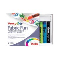 Pentel Fabric Fun Crayons - Set of 7 or 15