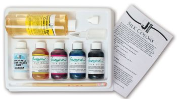 Jacquard Green Label Silk Colors Kit - with Removable Water-based Resist