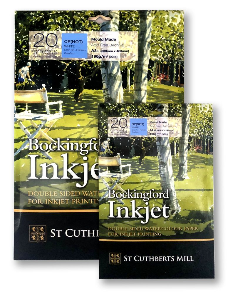 Bockingford Inkjet Double Sided Watercolour Paper - 190g, CP