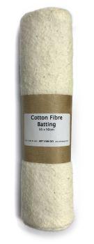 Cotton Fibre Batting 55x50cm