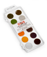 Koh-I-Noor 12 Disc Dye Based Watercolour Palette