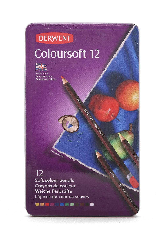 Derwent Coloursoft Pencils 12 set