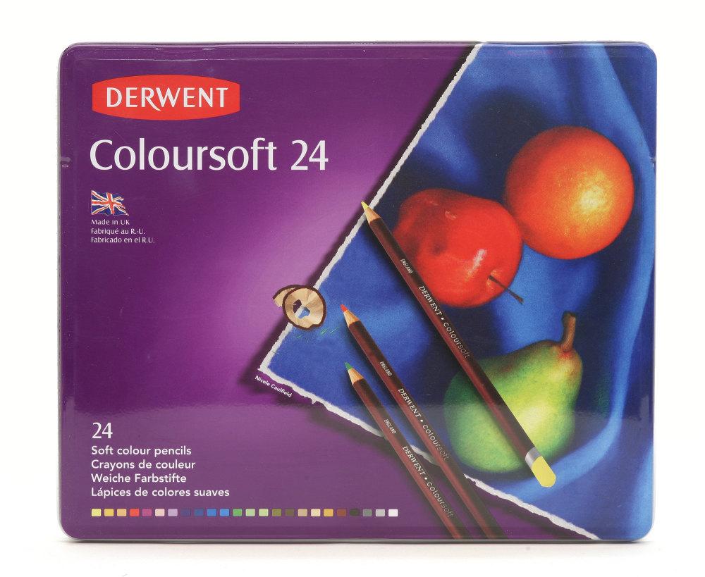 Derwent Coloursoft Pencils 24 set