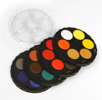 Koh-I-Noor Brilliant Watercolour Dye-based Roundel  - Now in 24, 36 & 48 disc set!