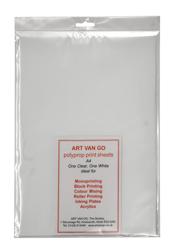 Art Van Go Polyprop Print Sheets A4 One Clear, One White