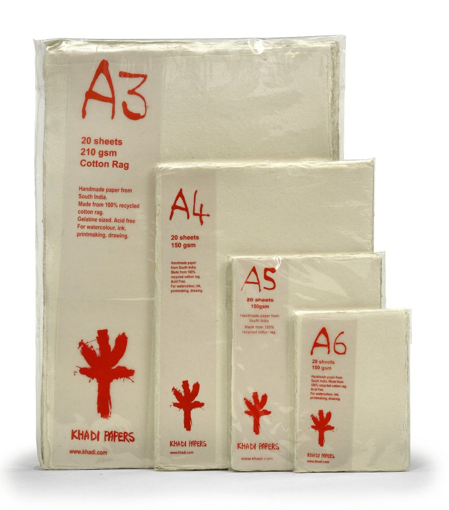 Khadi Cotton Rag Packs - 20 Sheets