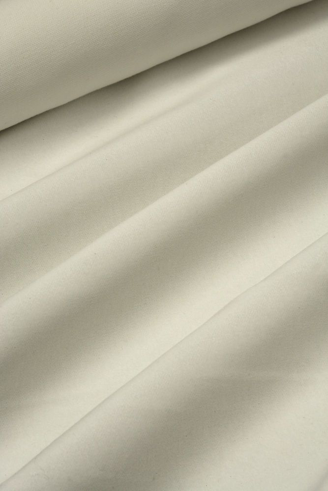 White Cotton Velvet 140cmx 1m