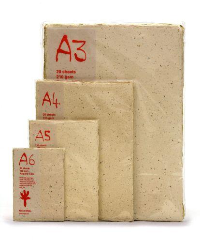 Khadi Rag and Fibre Packs - 20 Sheets
