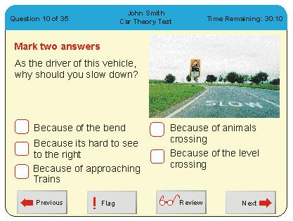 theory test example
