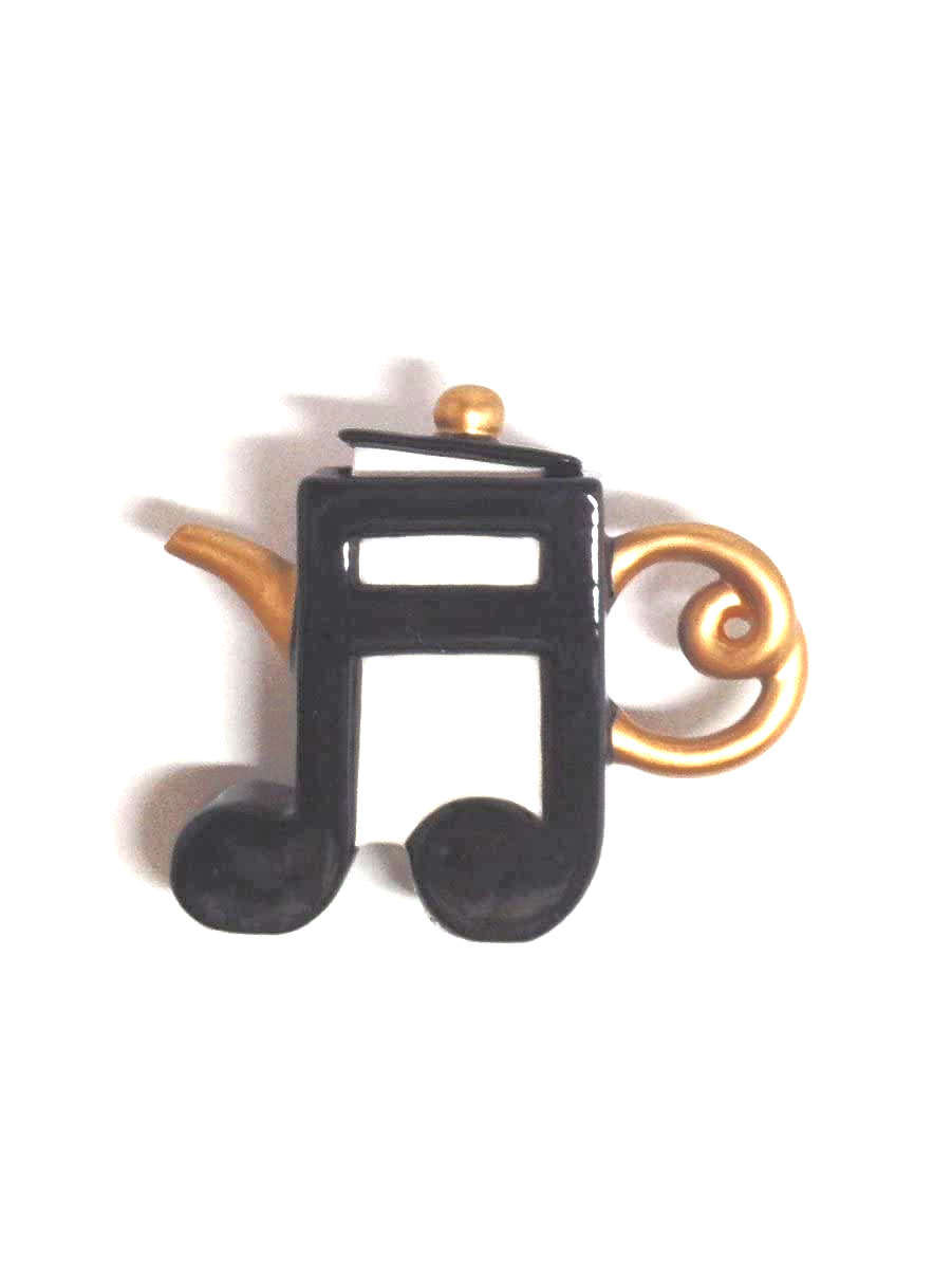 music note tea pot