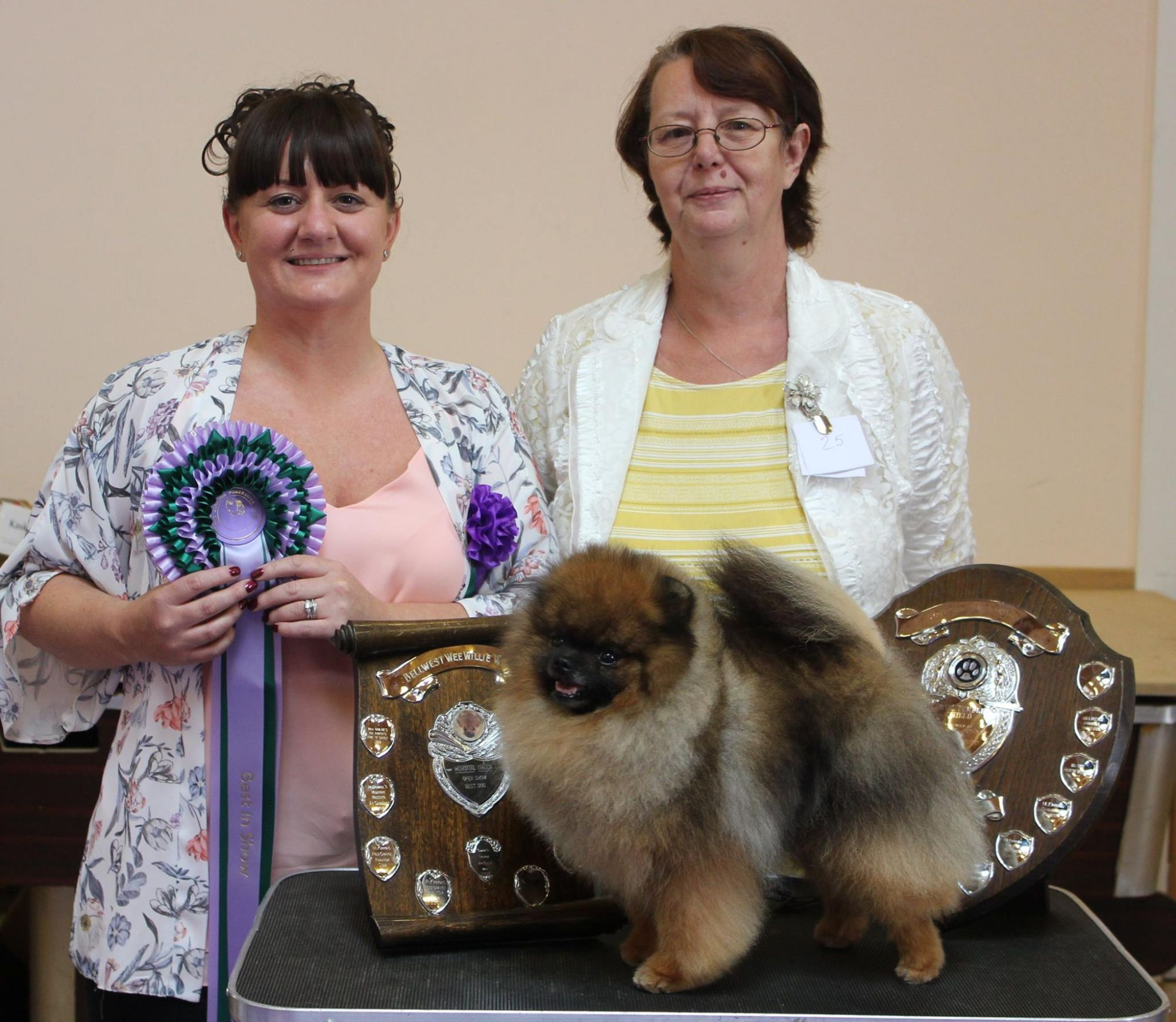 CH Kamis Mystical Legend of Brooklyn winning BIS at Scottish Pom