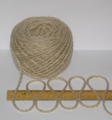 100g Beige Light Brown 100% Pure Merino knitting Wool Worsted Spun Thick Chunky 'Biscuit'