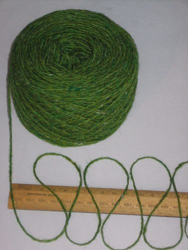 100g ball Lime Green Tweed 100% pure British Breed wool double knitting yarn dk