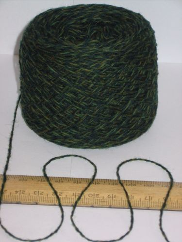 50g Green British 100% wool pure wool knitting yarn 2 ply Great for Felting felt