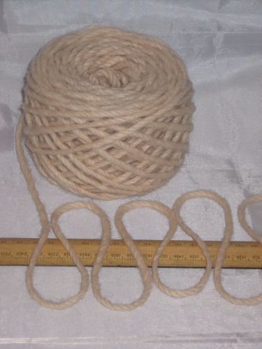 100g ball Chunky OATMEAL CREAM 100% Pure Wool British Breed knitting rug EFW 401