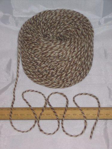 100g ball Brown & Cream Marl 100% Pure Wool British Breed knitting dk EFW 509