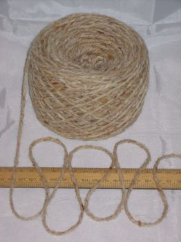 100g ball Aran Cream Oatmeal Tweed 100% Pure Wool British Breed knitting EFW 601