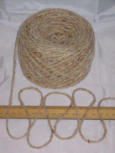 100g ball Aran Cream Oatmeal Tweed 100% Pure Wool British Breed knitting EFW 601