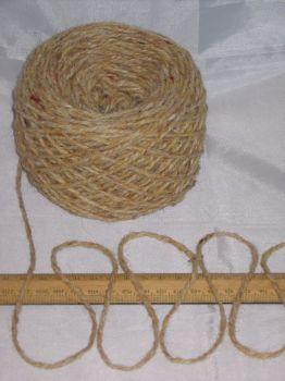 100g ball Aran Sandy Cream Tweed 100% Pure Wool British Breed knitting EFW 602