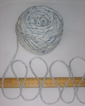100g ball Blue Fleck 100% Pure British knitting yarn Chunky Felted Wool BBW339
