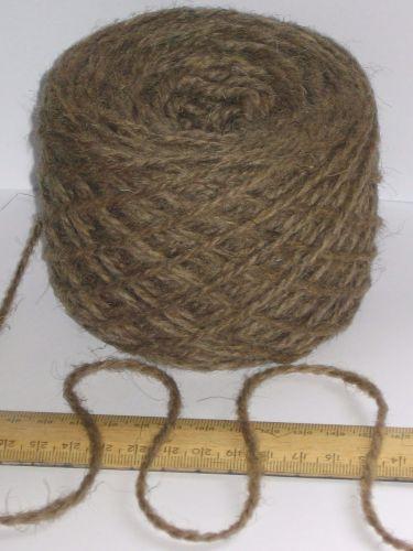 100g ball 100% Pure Wool British Breed thick aran knitting yarn Brown BBW 331