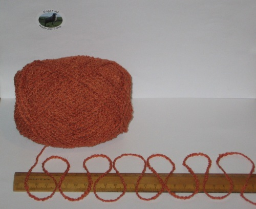 100g Burnt Orange Boucle 100% Pure British Breed Wool double knitting dk yarn