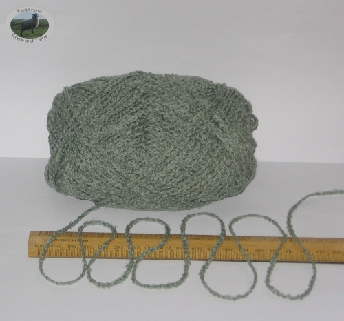 100g ball Green Boucle 100% Pure British Breed Wool double knitting dk yarn EFW 803