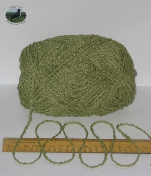 100g ball Green Boucle 100% Pure British Breed Wool double knitting dk yarn EFW 804