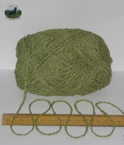 95g ball Green Boucle 100% Pure British Breed Wool double knitting dk yarn EFW 804