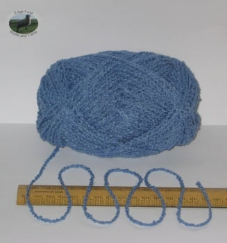 100g ball Blue Boucle 100% Pure British Breed Wool double knitting dk yarn EFW 806
