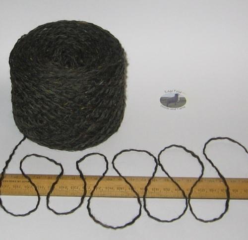 100g Dark Green Tweed 100% Scottish Wool Double knitting yarn dk 'Mountstuart'