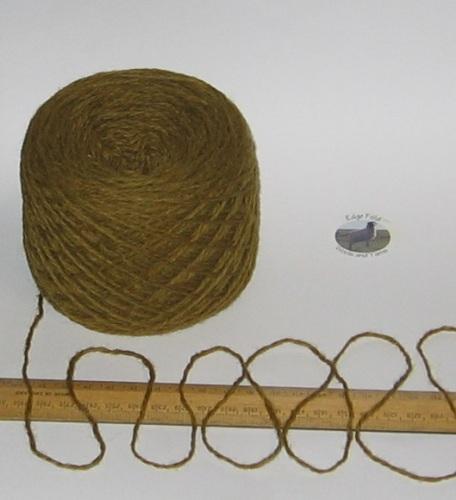 100g Mustard Green Tweed 100% Scottish Wool Double knitting yarn dk 'Kingarth'