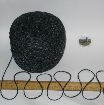 100g ball Dark Blue Tweed 100% Scottish Wool Double knitting yarn dk Ettrick