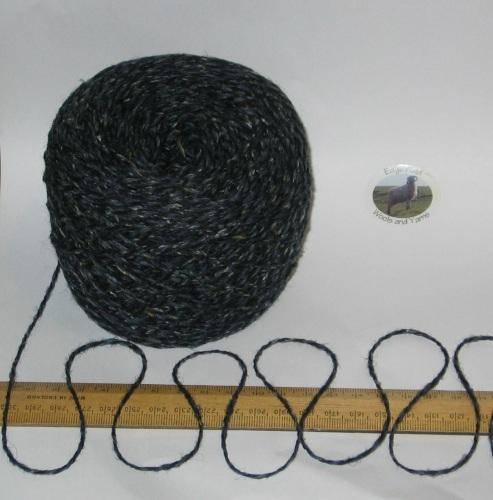 100g ball Dark Blue Tweed 100% Scottish Wool Double knitting yarn dk Ettrick
