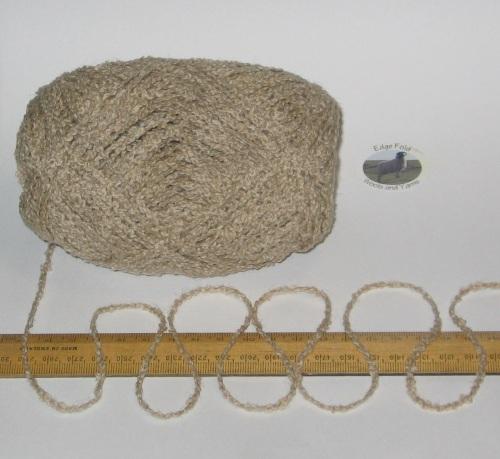 100g Oat Beige Boucle 100% Pure British Breed Wool double knitting dk yarn EFW 809