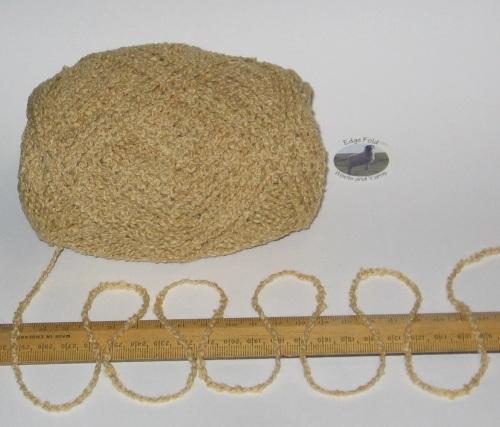 100g ball Yellow Wheat Boucle 100% Pure British Breed Sheep Wool Aran yarn
