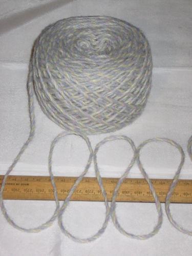 100g Blue Lilac Lemon Marl 100% Pure Wool British Breed Aran knitting EFW503