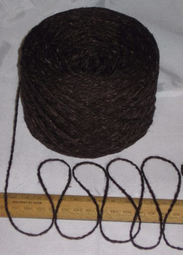 100g Rich Brown Tweed 100% English Wool Double knitting yarn dk 2/4nm British 'Bauxite'