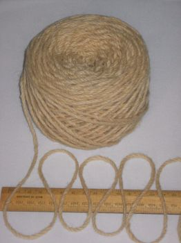 100g ball SANDY CREAM 100% Pure Wool British Breed thick aran knitting BBW335
