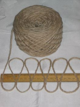 100g ball LIGHT BROWN 100% Pure Wool British Breed thick aran knitting BBW338