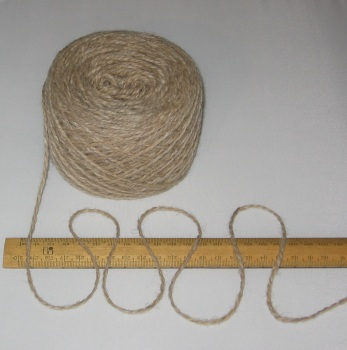 100g Light Brown 100% Pure Wool British Breed dk Double knitting yarn EFW 225
