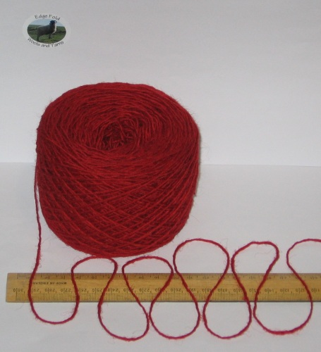 100g Red 100% pure British Breed knitting wool yarn 4 ply Please read description carefully
