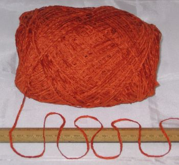 100g ball Clementine Orange Chenille knitting wool yarn soft 4 ply soft