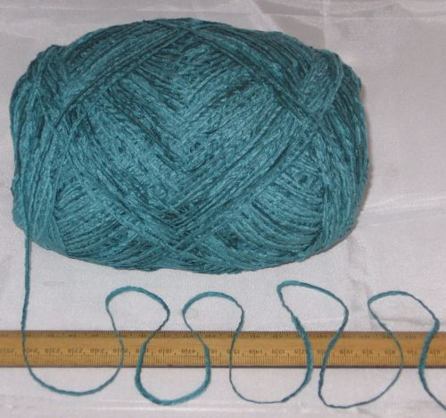 100g Turquoise Green Chenille knitting wool yarn soft 4ply soft