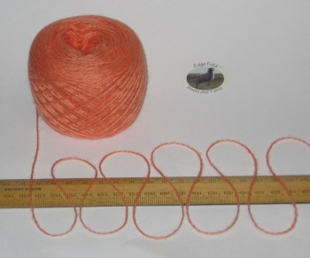 50g ball Pale Orange 4 ply knitting yarn 51% wool 49% acrylic SOFT Nasturtium